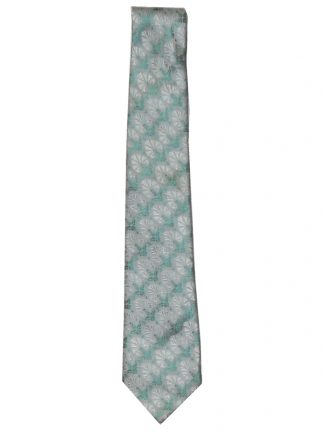 Liberty green and silver textured silk design silk tie