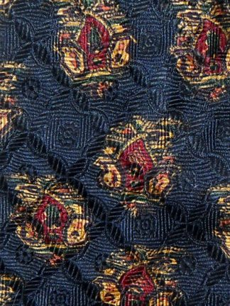 Dark blue background Liberty silk tie