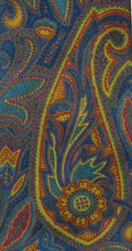 Large paisley design vintage silk tie