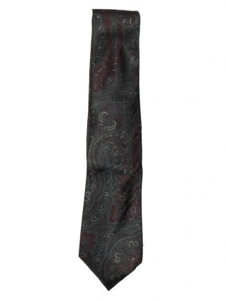 Vintage satin tie in muted colours by Pierre Cardin