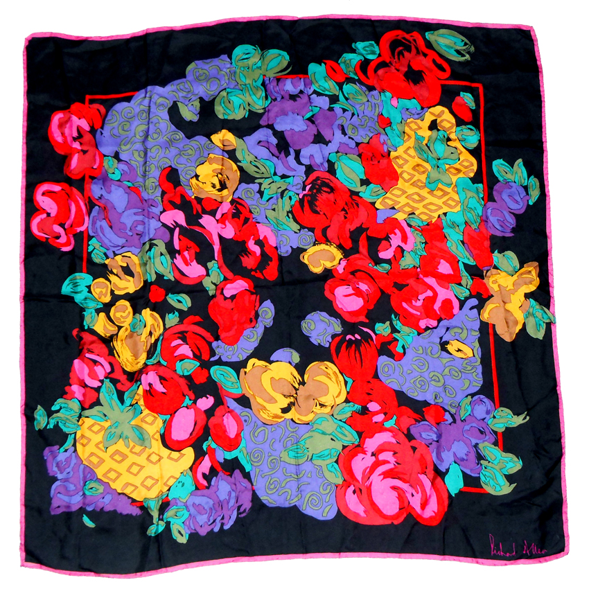 Richard Allan bright design silk scarf