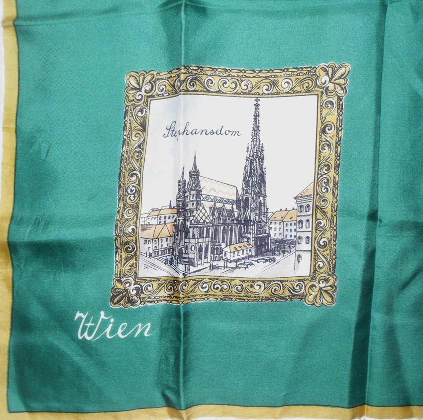 Vintage souvenir scarf - Vienna