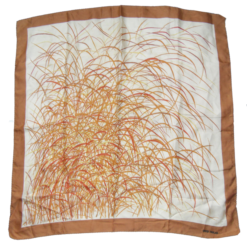 Abstract design silk scarf