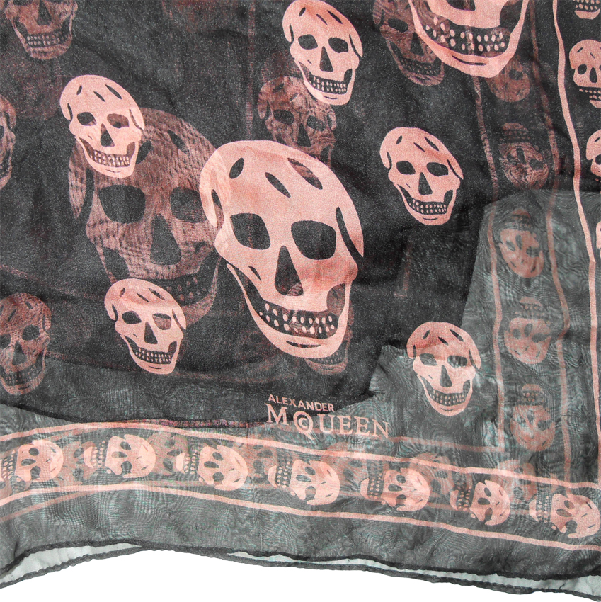 Long skull design scarf by Alexander McQueen