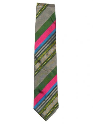 Etro diagonal striped design silk tie