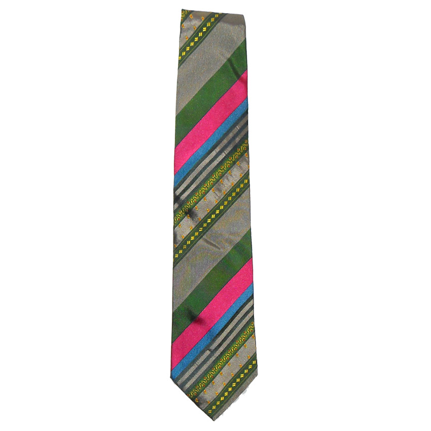 Etro diagonal striped design silk tie