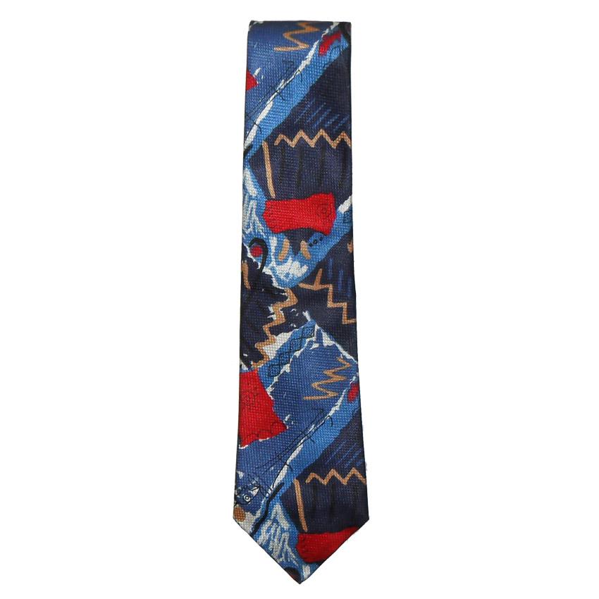 Abstract design silk tie by Hugo Boss