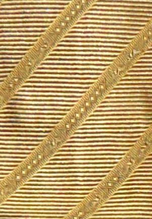 Gold silk tie by Salvatore Ferragamo