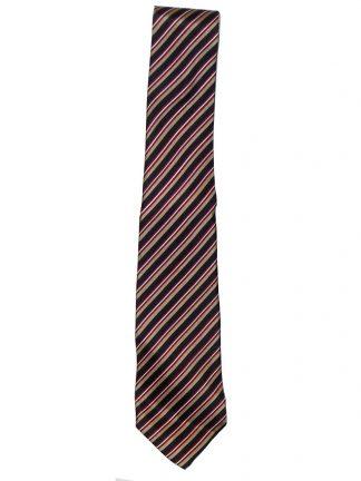 Vintage hand made diagonal stripe silk tie