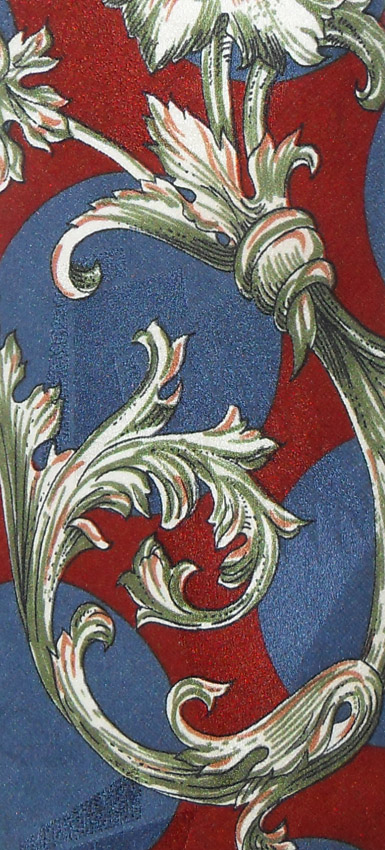 Vintage floral design jacquard silk tie