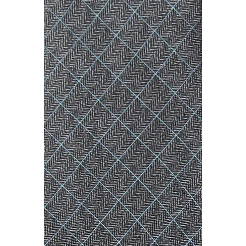 Dunhill silk tie with a grey herringbone design