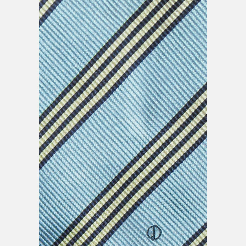 Light blue striped design silk tie by Dunhill