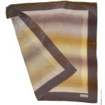 Geometric design vintage silk scarf in shades of brown by Tiktiner