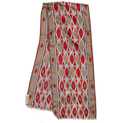 Long silk hand rolled edge silk scarf by Richard Allan