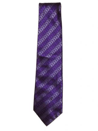 Textured silk tie in shades of purple by Ozwald Boateng