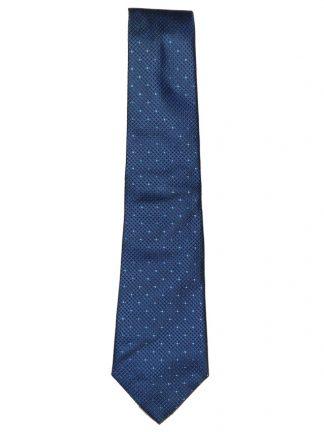 Textured blue silk tie by Turnbull & Asser