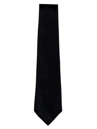 Harrods Mans Shop black silk tie
