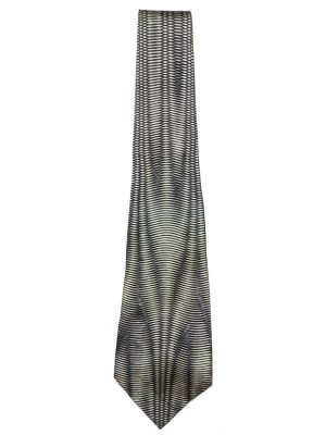 Black and white design silk tie by Modules, Japan