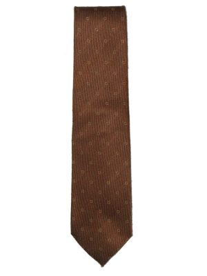 Luigi Borrelli cashmerea and silk mix brown tie