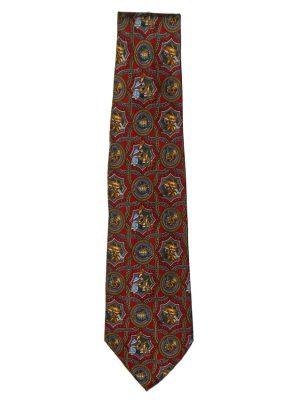 Salvatore Ferragamo tie with design of musician and instruments