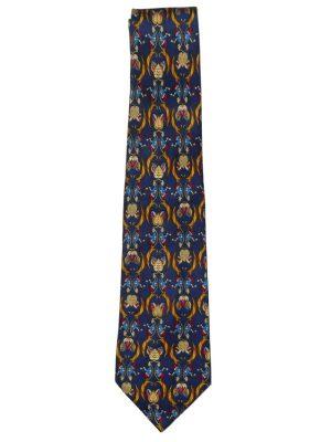 Silk tie by Salvatore Ferragamo with a design of a pipe smoker