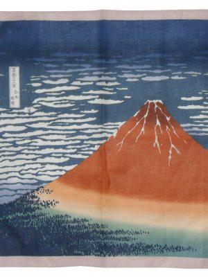 Mount Fuji cotton pocket square