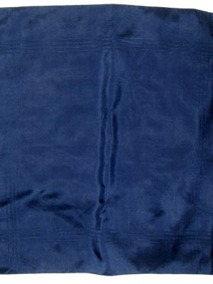 Macclesfield navy silk pocket square