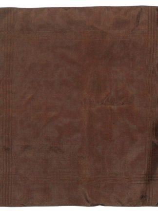 Macclesfield brown silk pocket square