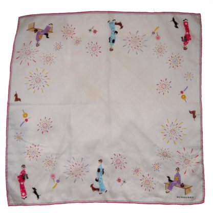 Burberry pink cotton scarf