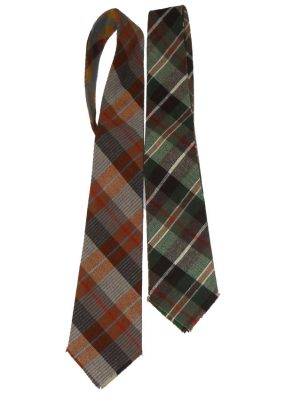 Tartan plaid tie with four different designs