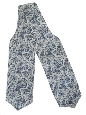 Blue paisley design cravat by Tootal