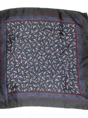 vintage hand rolled edge silk pocket sqquare