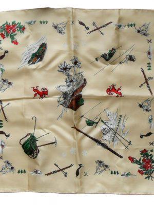 Alpine design silk pocket square