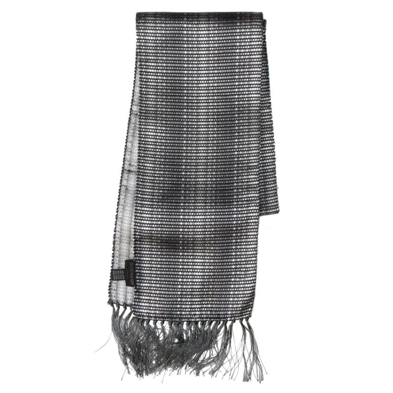 Duchamp silver grey silk scarf