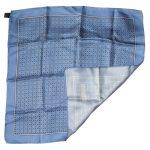 Alain Figaret blue pocket square