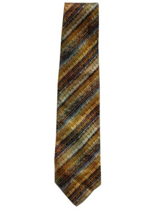 Missoni silk tie in shades of gold with hints of blue
