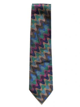 Missoni vintage vibrant multi colour silk tie
