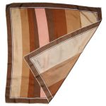 Ciziano Italy silk scarf in shades of brown and pink