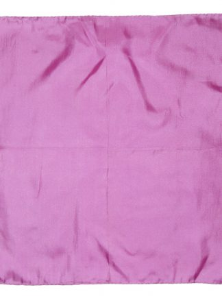 Mauve silk pocket square with hand rolled edges