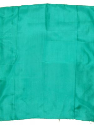 Emerald green silk pocket square with hand rolled edges