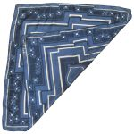 Richard Allan blue and white flower design silk scarf