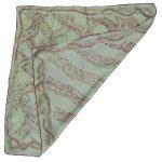 Richard Allan pale green silk scarf with a red design