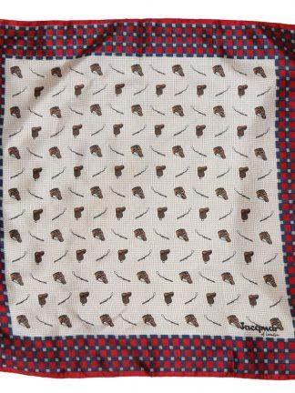 Jacqmar of London equestrian design small silk scarf