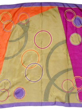Vintage Ellen Tracy silk scarf in a bold colourful design