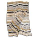 Sonia Rykiel chiffon striped design long silk scarf