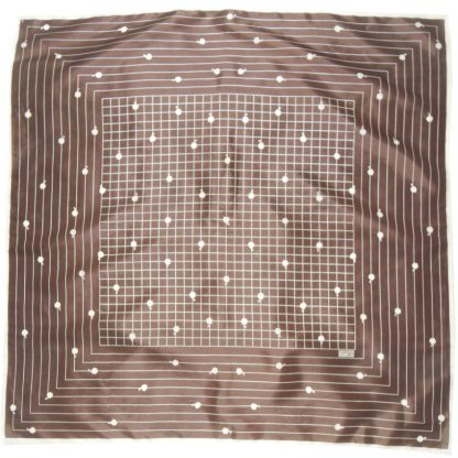 Robinson Golluber brown and cream design scarf