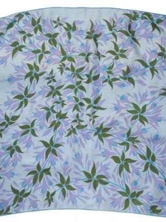 Jacqmar mauve and blue fuschia design silk scarf