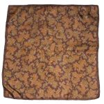 Brown paisley design silk scarf