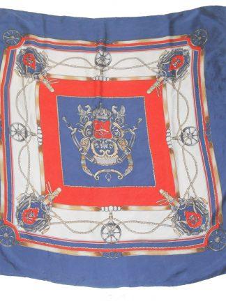 Nautical design silk scarf