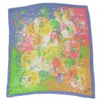 Diane Freis multi colour abstract silk scarf